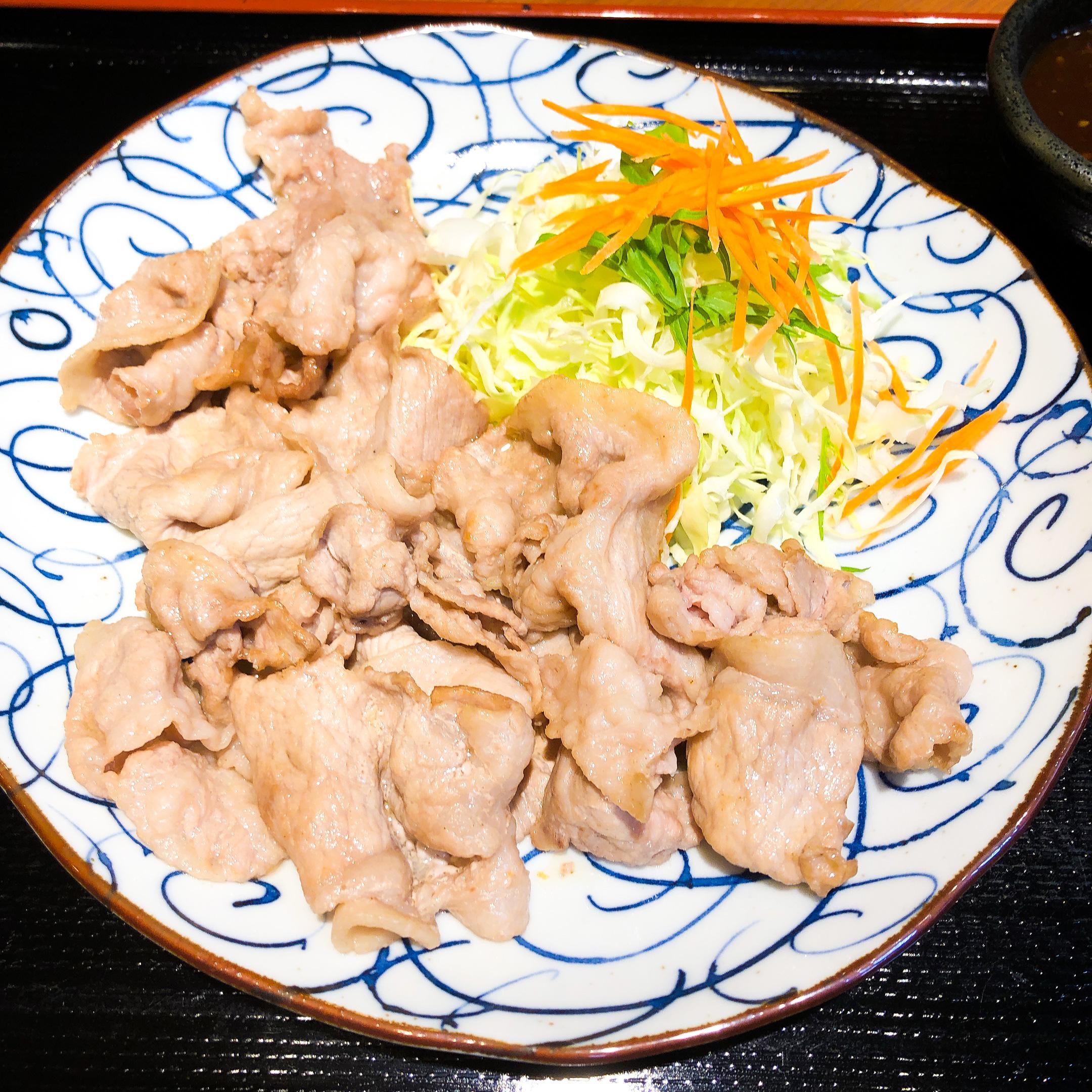 松阪豚バラ肉定食